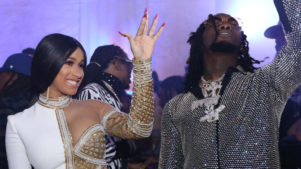 Cardi B Stuns At Offset S Birthday Party Gifts Fiance With A Rolls