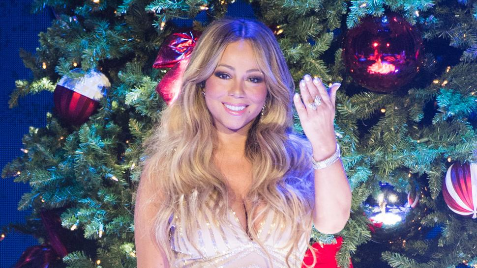 Mariah Carey performing in London