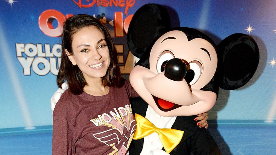 Mila Kunis and Mickey Mouse at Disney on Ice
