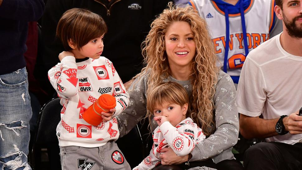 Shakira And Gerard Pique S Adorable Sons Are Budding Tennis Stars Watch Entertainment Tonight