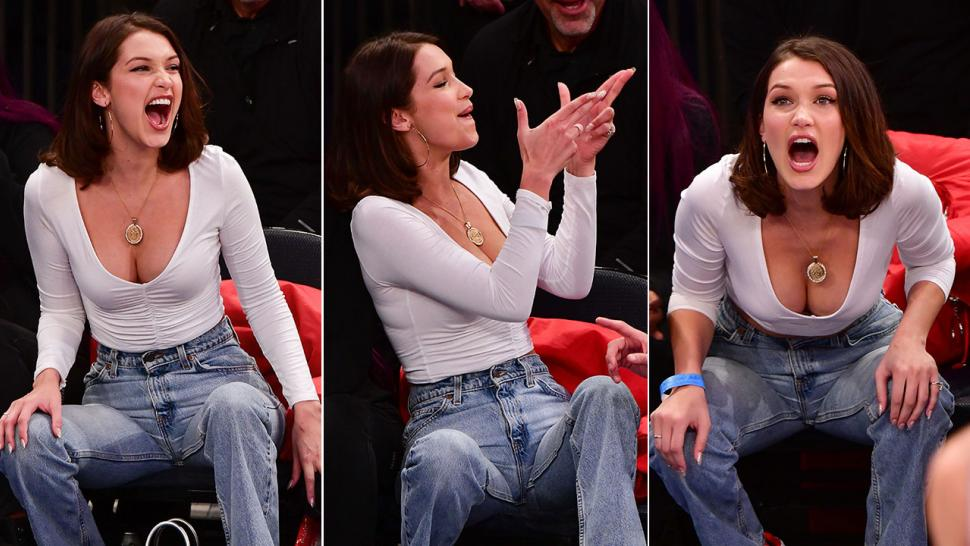 9e30caeb26c Bella Hadid s Hilarious Courtside Facial Expressions Are Everything ...