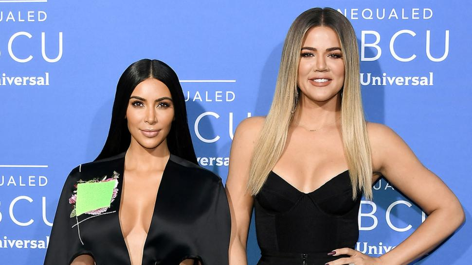 Kim Kardashian and Khloe Kardashian at 2017 NBC Upfronts