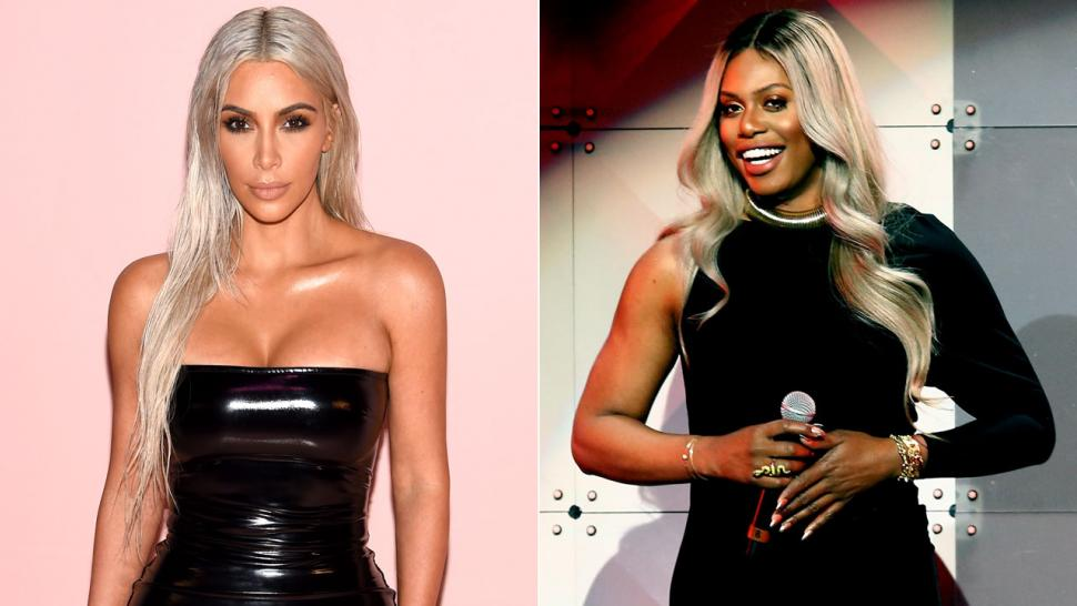 Kim Kardashian and Laverne Cox