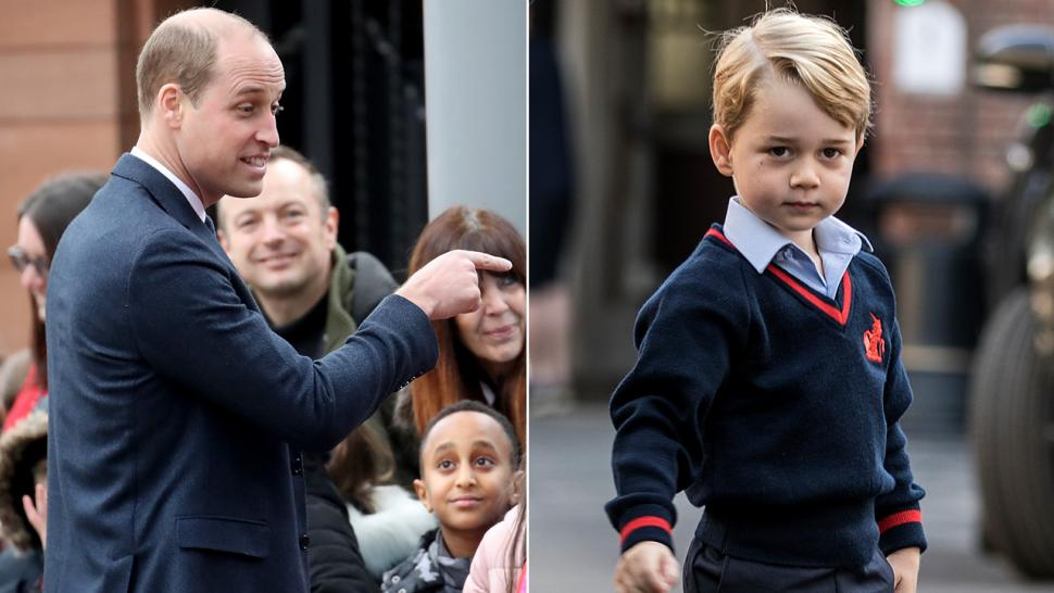 Prince William talks Prince George