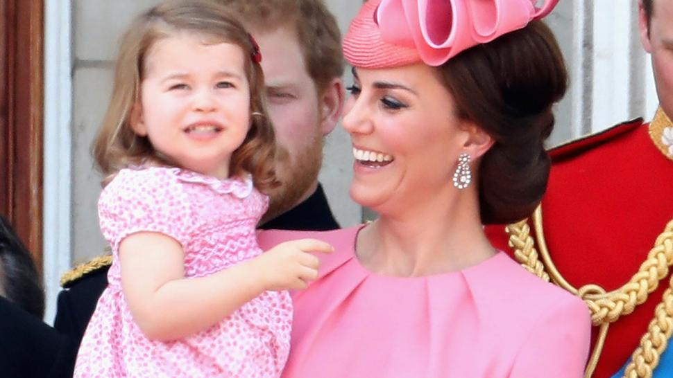 Princess Charlotte and Kate Middleton at Trooping the Colour