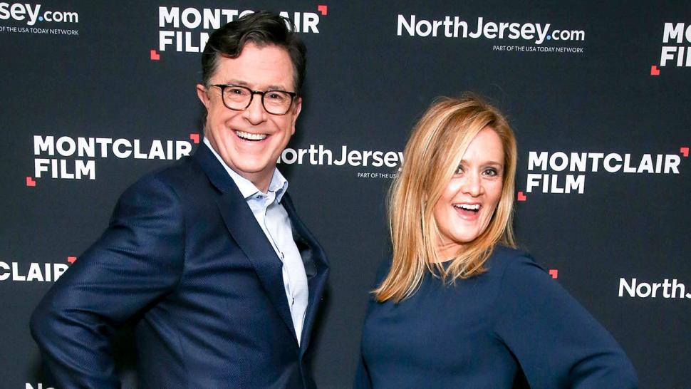 Stephen Colbert and Samantha Bee