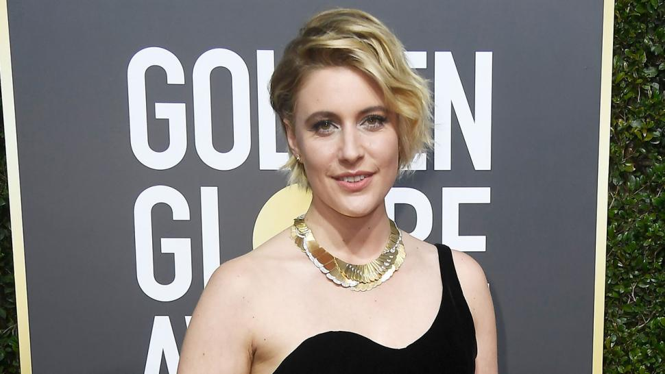 Greta Gerwig at Golden Globes 2018