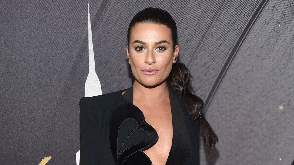 Lea Michele at pregrammy party