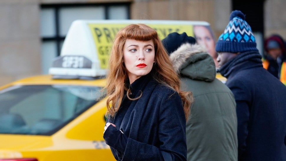 Blake Lively on set in NYC