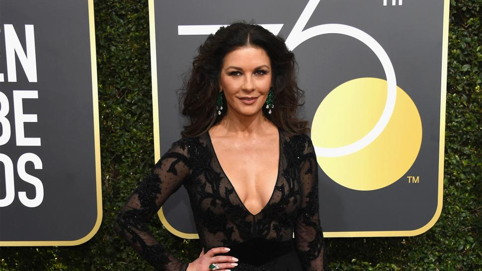 Catherine Zeta Jones at the 2018 Golden Globes