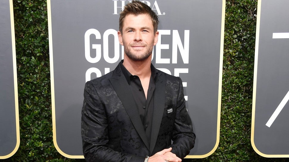 Chris Hemsworth at 2018 Golden Globes