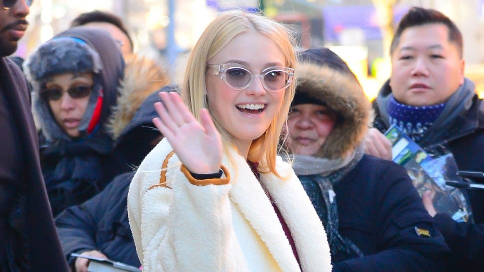 Dakota Fanning in NYC's Soho neighborhood