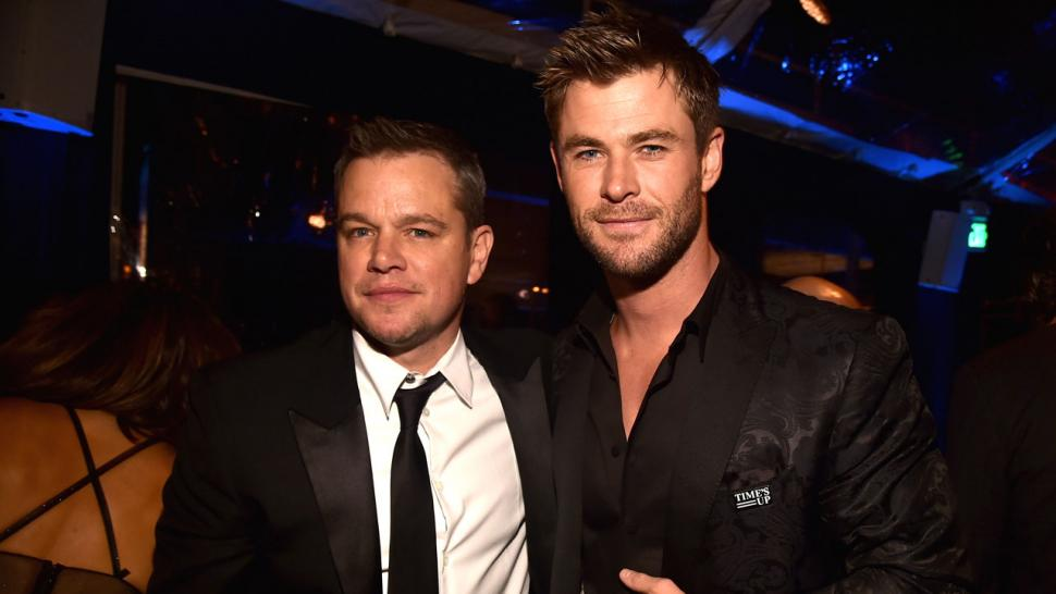 Matt Damon and Chris Hemsworth