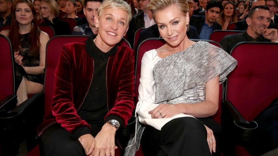 Ellen DeGeneres Posts Rare Photo Of Kiss With Portia De