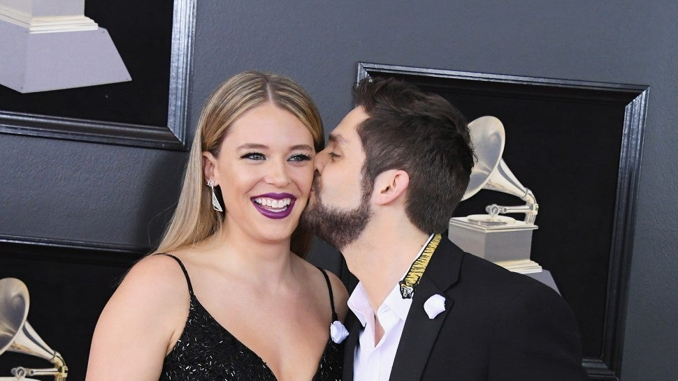 Lauren Akins and Thomas Rhett at 2018 GRAMMYs