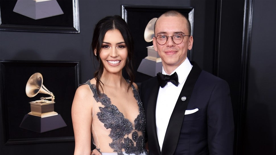 Jessica Andrea and Logic at 2018 GRAMMYs