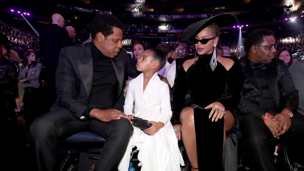 Jay-Z, Blue Ivy and Beyonce at 2018 GRAMMYs