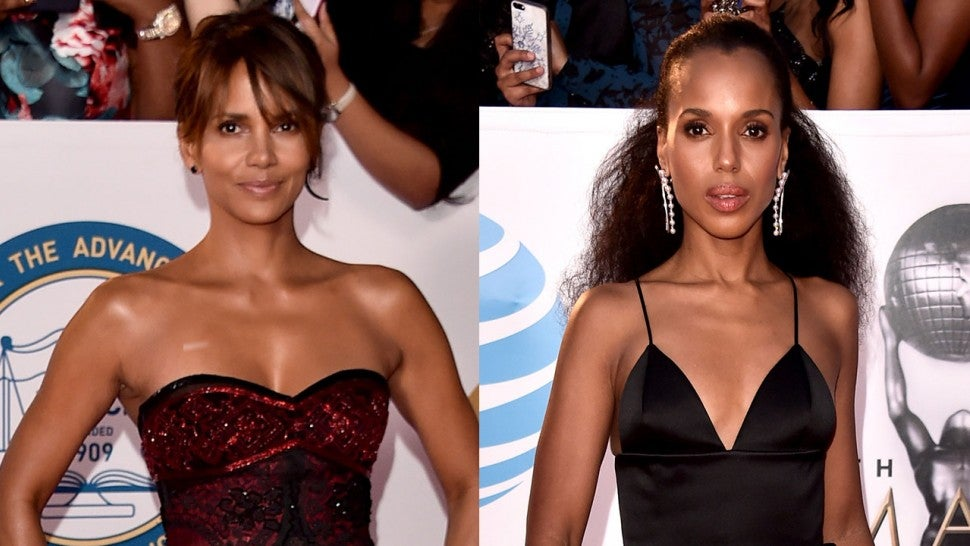 Halle Berry and Kerry Washington at NAACP Image Awards 2018