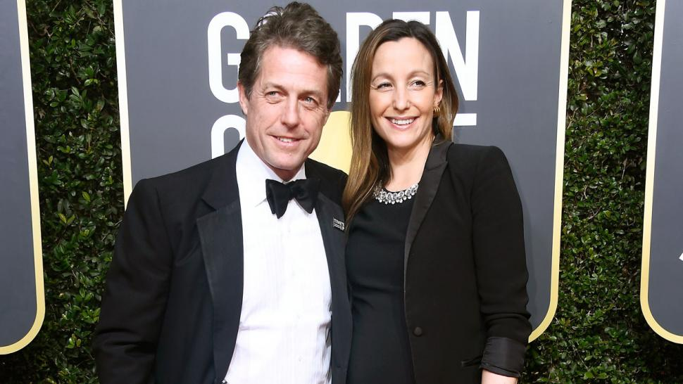 Hugh Grant and Anna Eberstein marry in London