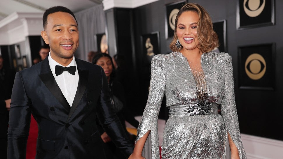 John Legend and Chrissy Teigen at GRAMMY Awards 2018