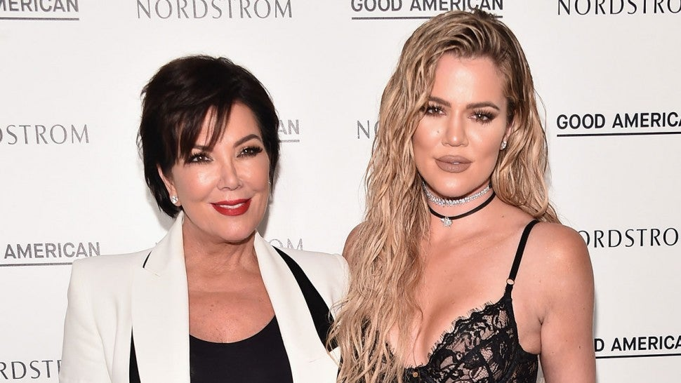 Kris Jenner and Khloe Kardashian at Good American Launch Event at Nordstrom at the Grove