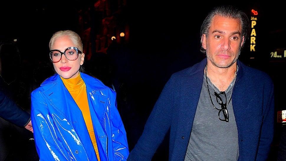 Lady Gaga Holds Hands With Boyfriend Christian Carino On