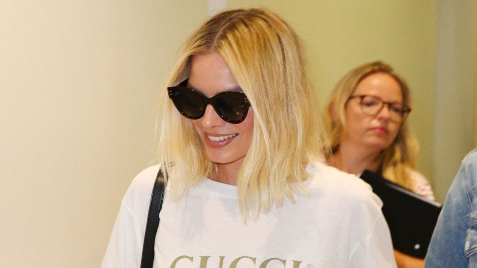 Margot Robbie at Sydney Airport in Australia