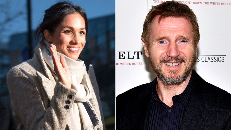 Meghan Markle and Liam Neeson