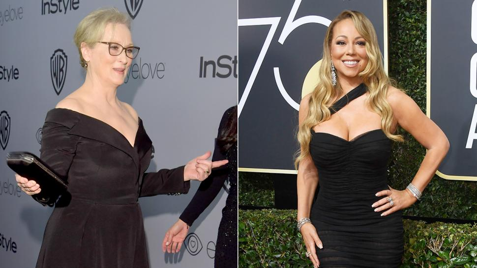 Mariah Carey Accidently Steals Meryl Streep's Seat At The Golden Globes