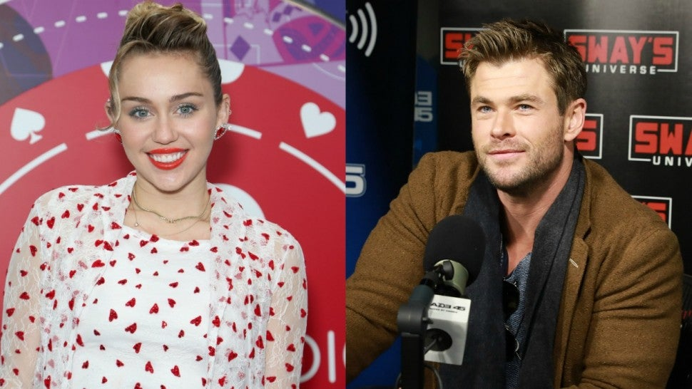 Miley Cyrus and Chris Hemsworth