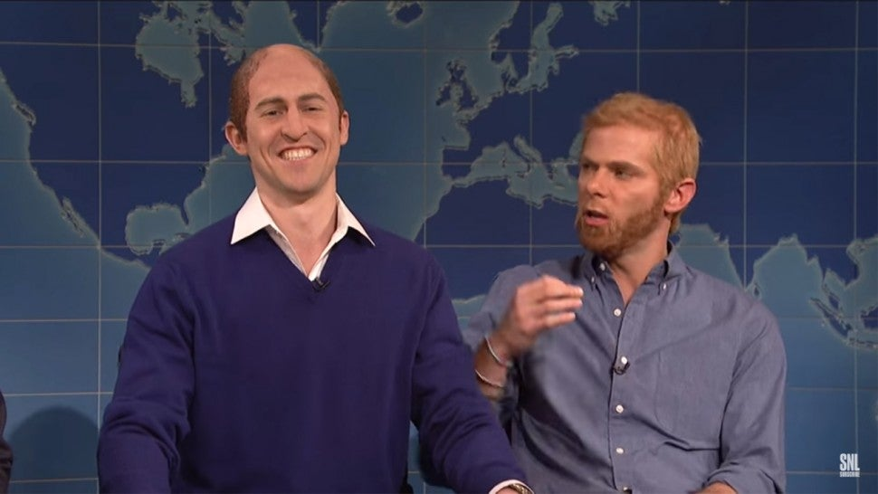 Prince William and Harry on 'SNL'