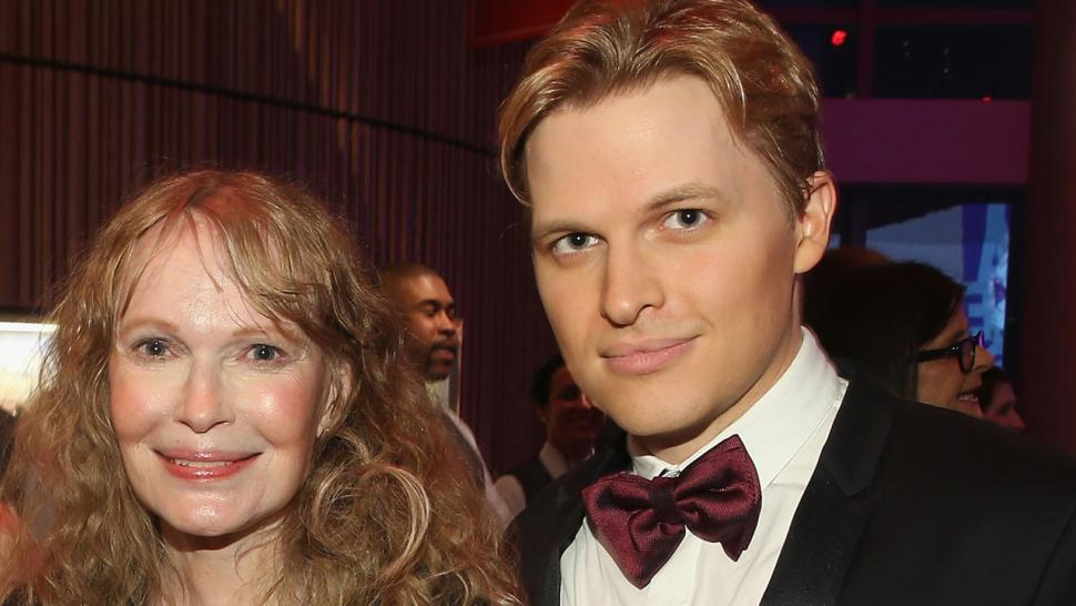Ronan Farrow and Mia Farrow