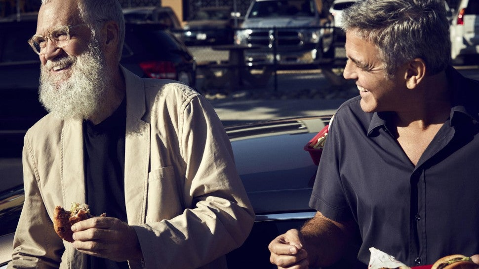 David Letterman and George Clooney hang out at In-N-Out Burger