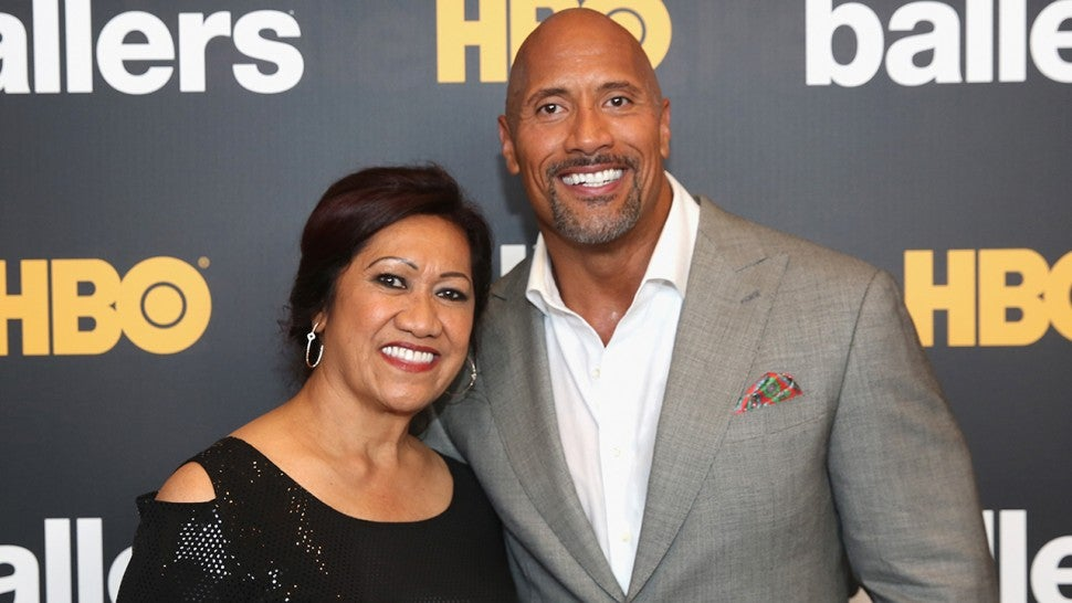 Dwayne Johnson and Ata Johnson