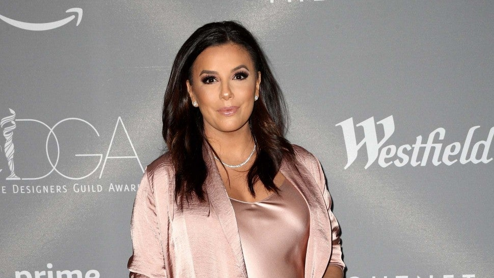 Eva Longoria on the red carpet at the Costume Designers Guild Awards on Feb. 20