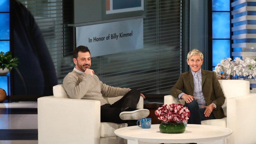 Jimmy Kimmel appears on 'The Ellen DeGeneres Show.'