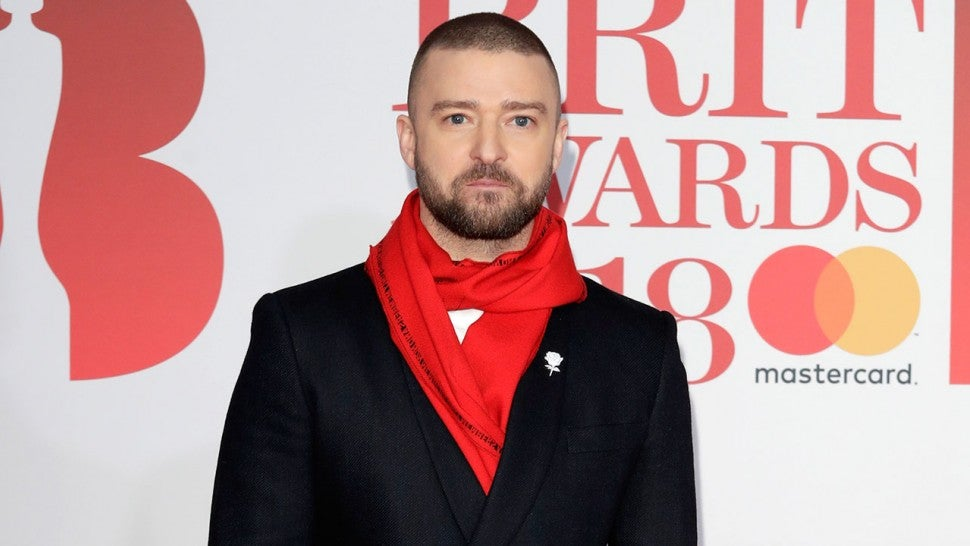 Justin Timberlake at 2018 BRIT Awards