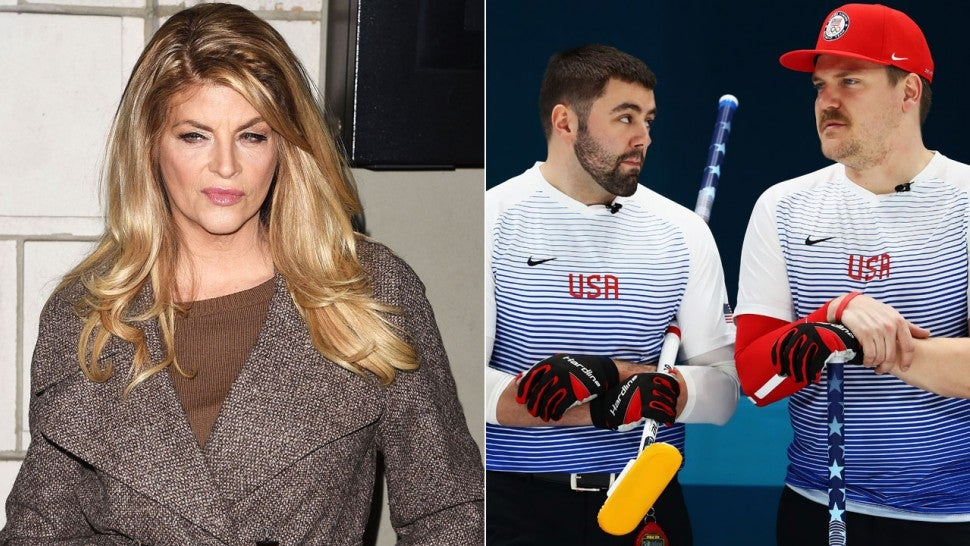 Kirstie Alley Curling