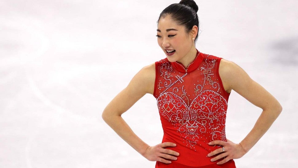 U.S. figure skater Mirai Nagasu at the 2018 Winter Olympics in Pyeongchang, South Korea