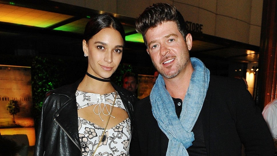 Robin Thicke & April Love Geary Welcome Daughter Mia Love
