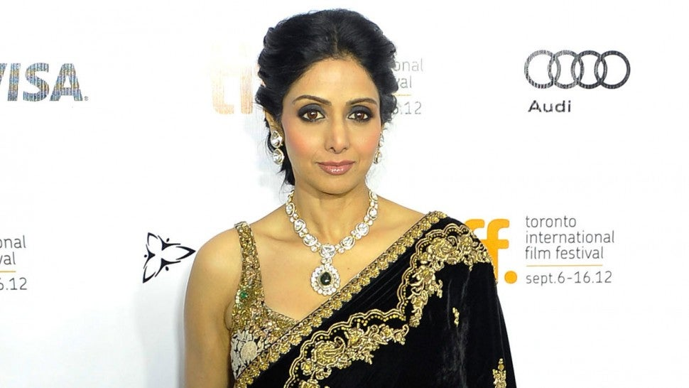 Sridevi Kapoor at English Vinglish premiere in 2012