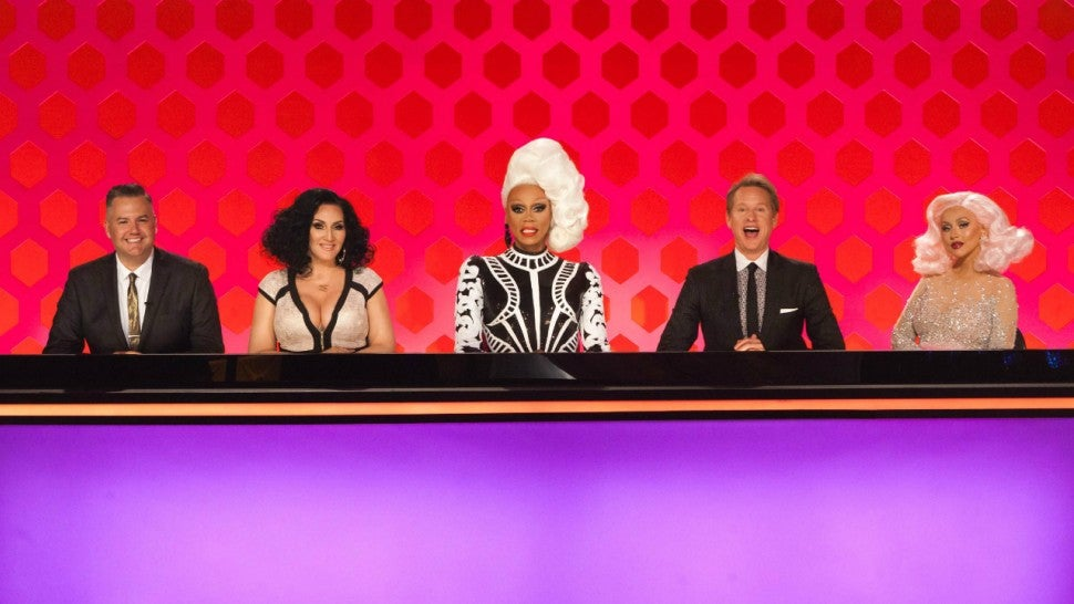 The judging panel for the season premiere of 'RuPaul's Drag Race' season 10.