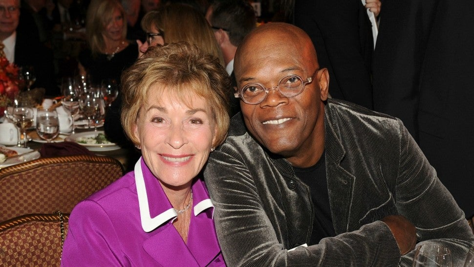 samuel l  jackson and judge judy have a  u0026 39 dope u0026 39  time hanging out  pic