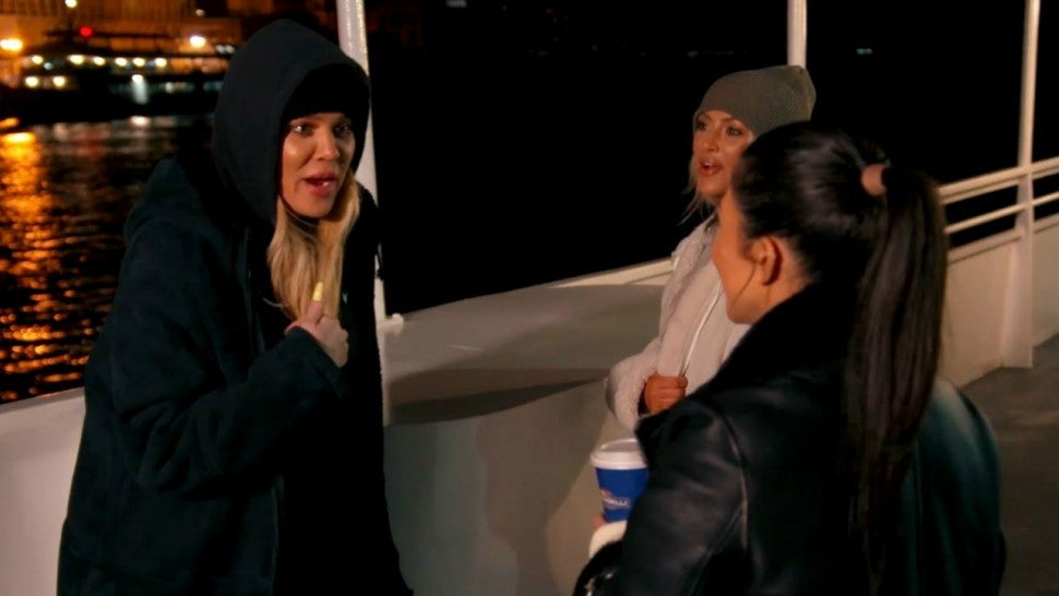 Khloe, Kim and Kourtney Kardashian get into a fight on 'Keeping Up With the Kardashians.'