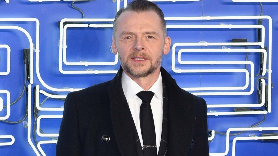 Simon Pegg attends the European premiere of Ready Player One at in London on Mar. 19