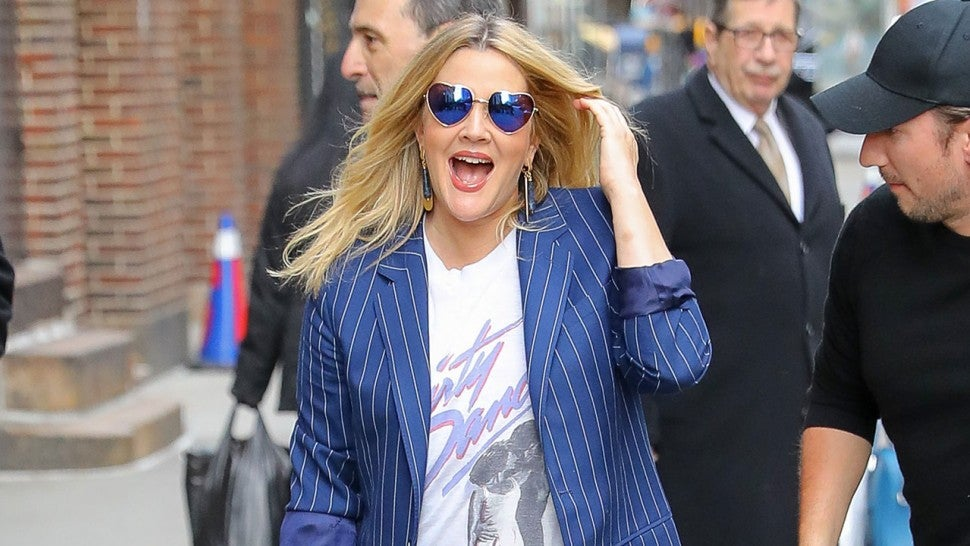 Drew Barrymore at Late Show