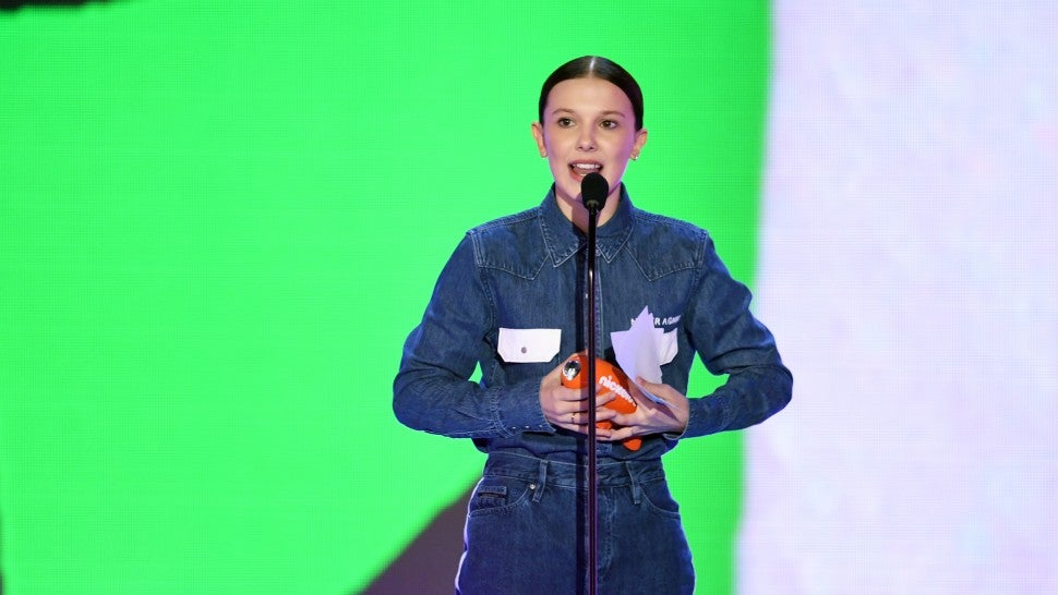 Millie Bobby Brown's awards show outfit honoured the Parkland shooting victims