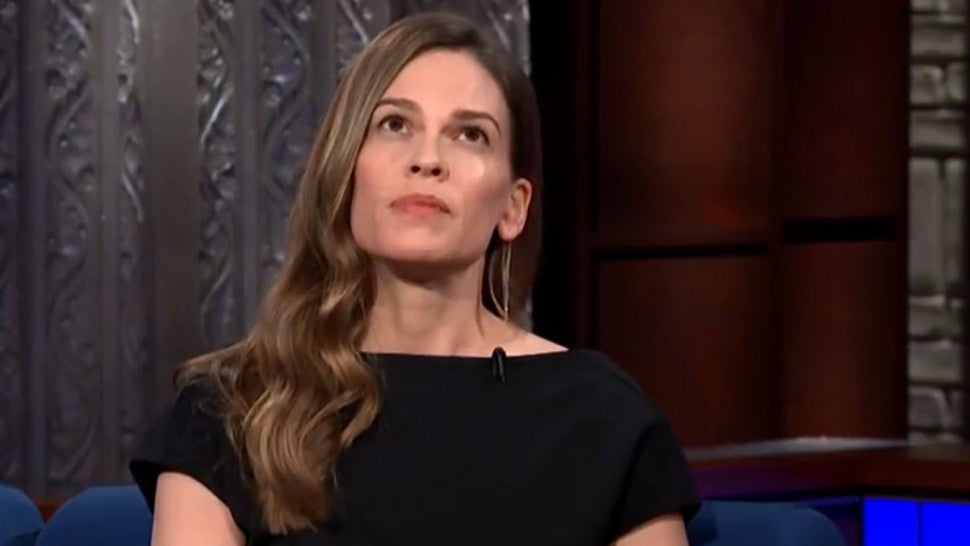 Hilary Swank Late Show