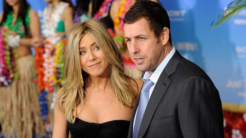 Jennifer Aniston and Adam Sandler Reunite on the Set of Their New