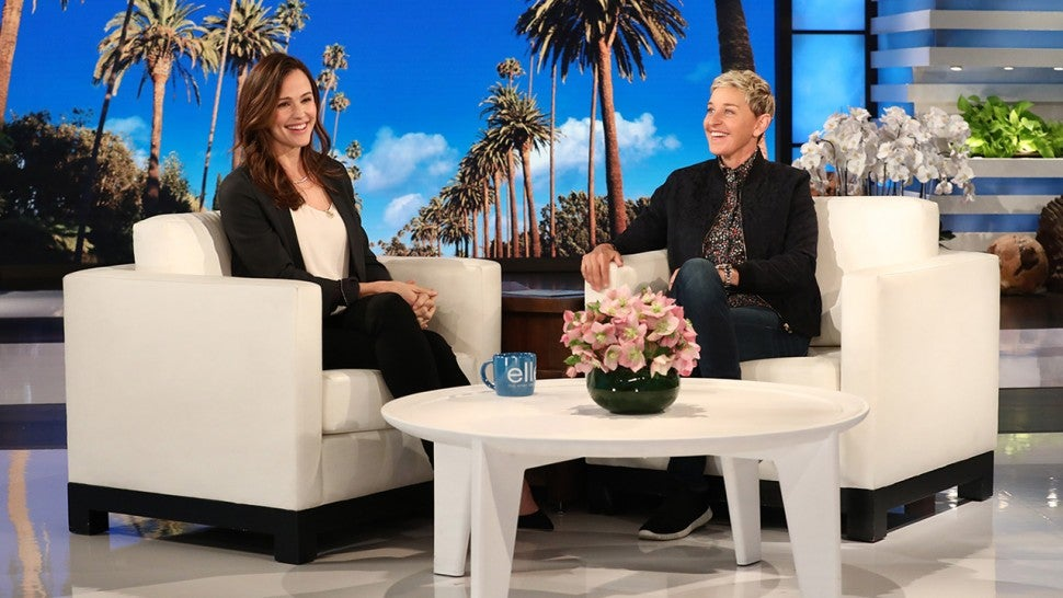 Jennifer Garner and Ellen DeGeneres
